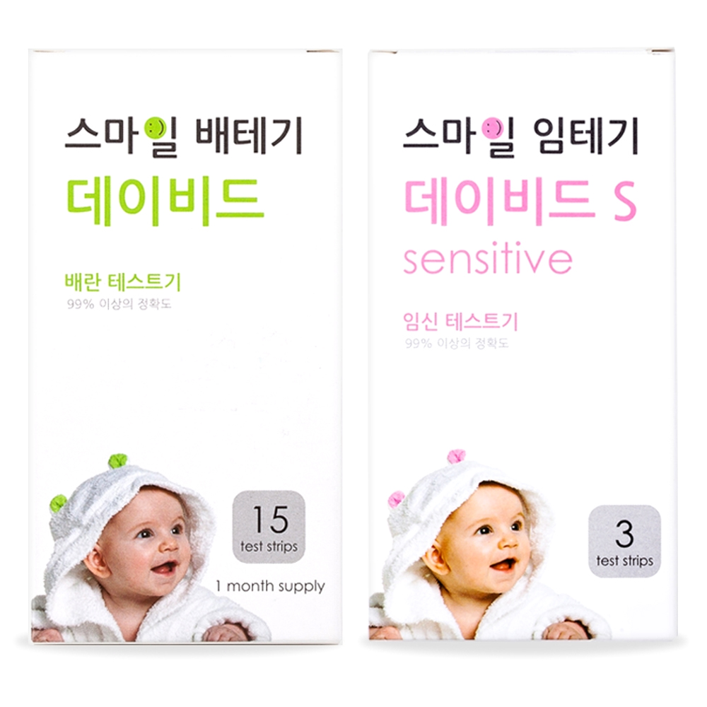 스마일랩 스마일 데이비드 배란테스트기 15p + 스마일 임신테스트기 S 3p, 1세트