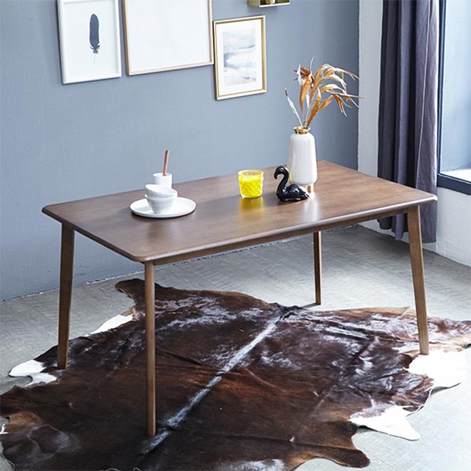 베스트리빙 캔버라 6인용 원목 식탁테이블, 모카브라운