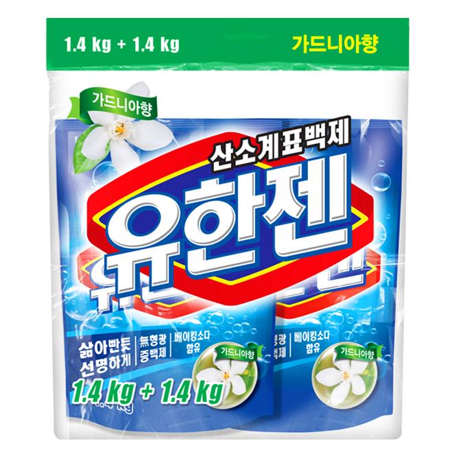 유한양행 유한젠 분말형 표백제 가드니아향, 1.4kg, 2개입