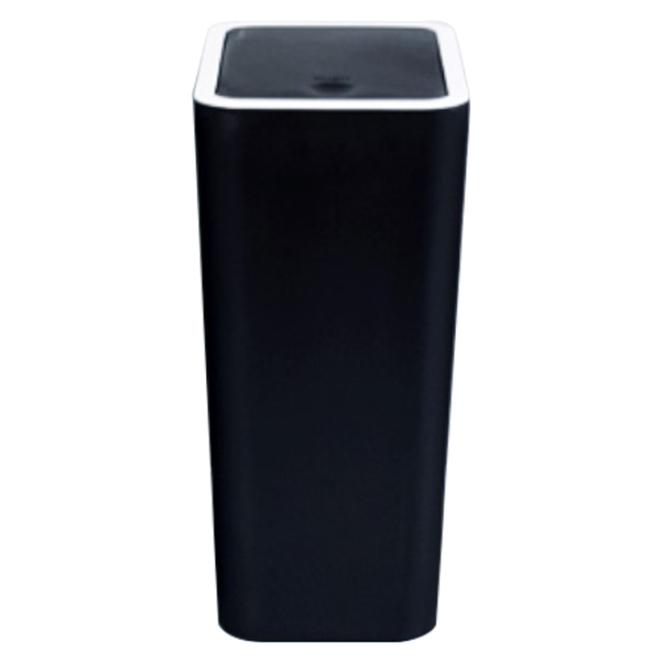 홈스웰 ONE BIN 원터치 인테리어 휴지통 8L, 블랙, 1개