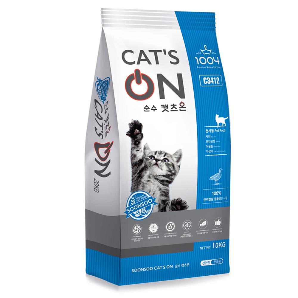 1004 캣츠온 고양이사료, 10kg, 1개
