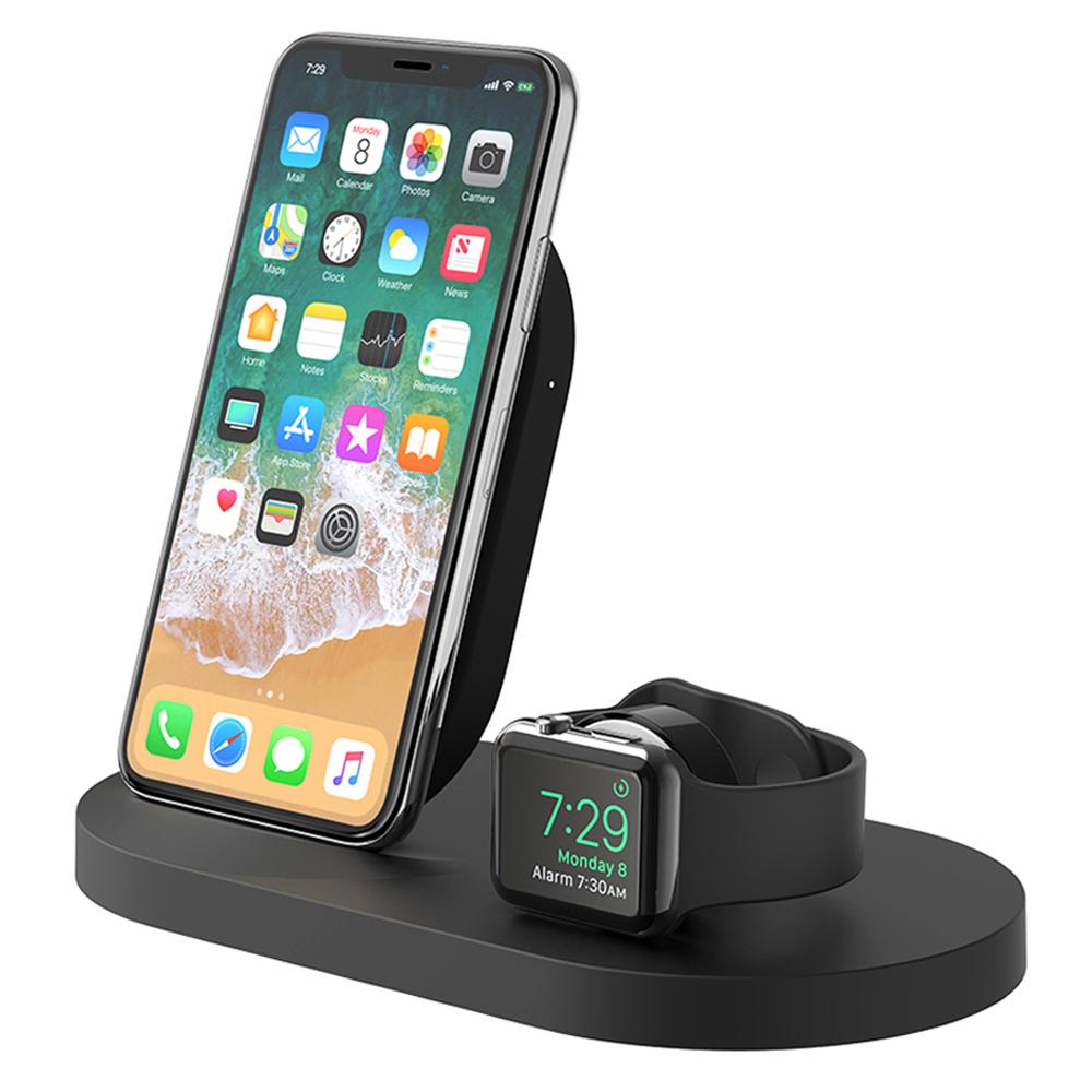 벨킨 아이폰 애플워치 USB A포트용 3 in 1 무선 멀티 충전독 F8J235kr, 블랙, 1개