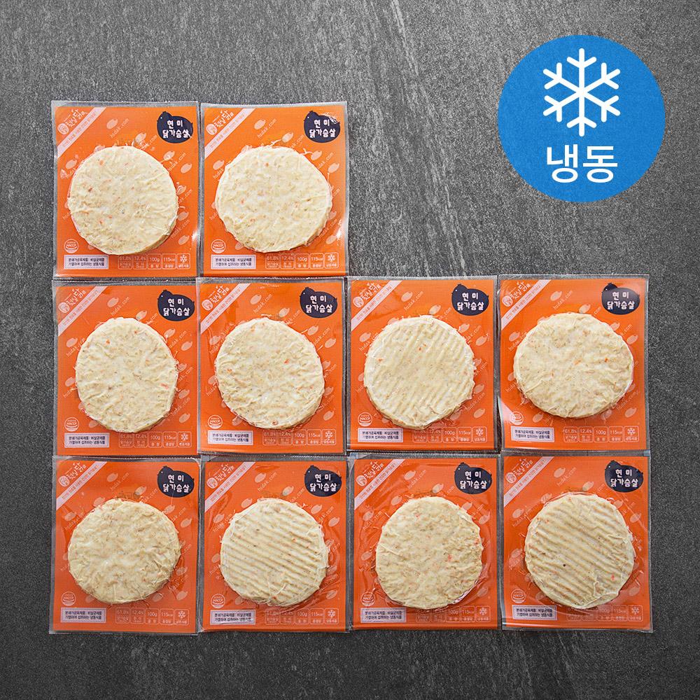 [닭가슴살 다이어트] 햇살푸드 햇살닭 현미 닭가슴살 (냉동), 100g, 10팩 - 랭킹64위 (11500원)