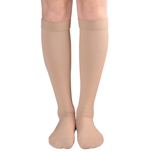원더워크 의료용 압박스타킹 무릎형 발막힘 베이지색, M, 1개