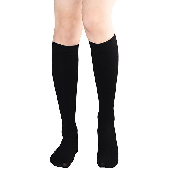 원더워크 의료용압박스타킹 무릎형/발막힘 검정색, S, 1개