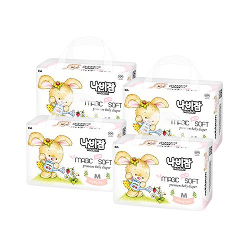 나비잠 매직소프트 밴드형 기저귀 아동공용 중형(6~11kg), 160매