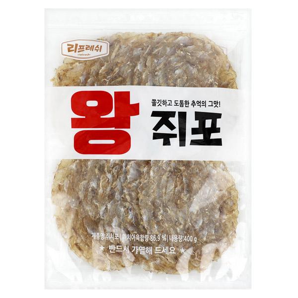 리프레쉬 왕 쥐포, 400g, 1개