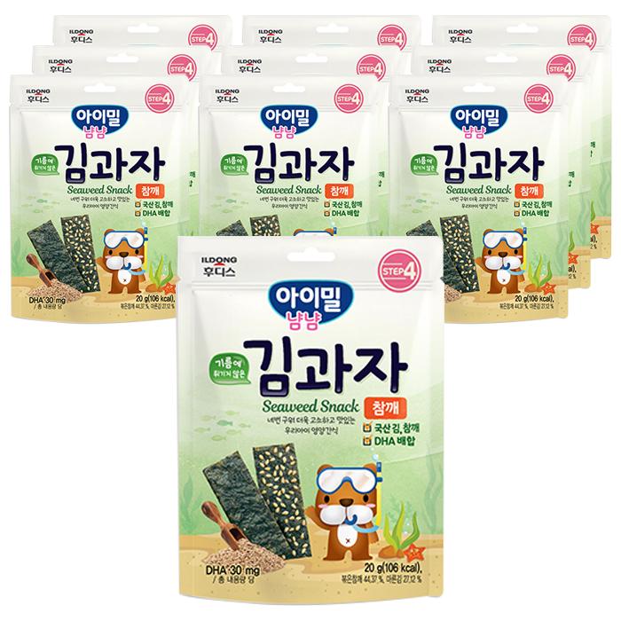 일동후디스 아이밀냠냠 김과자, 참깨, 10개