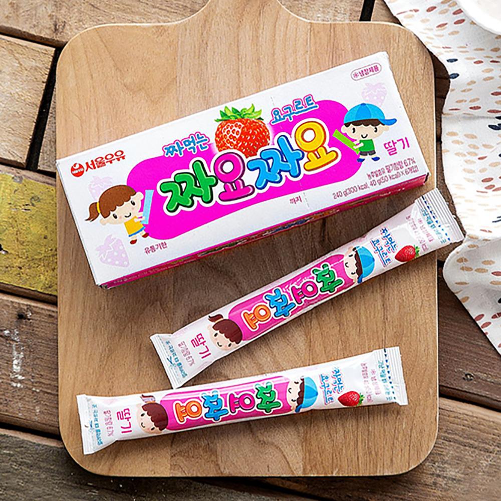 서울우유 짜먹는 요구르트 짜요짜요 딸기 6개입, 40g, 2개