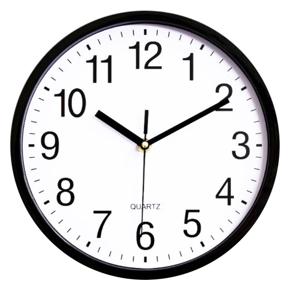 파인블루 베이직 저소음 벽걸이 시계, 블랙