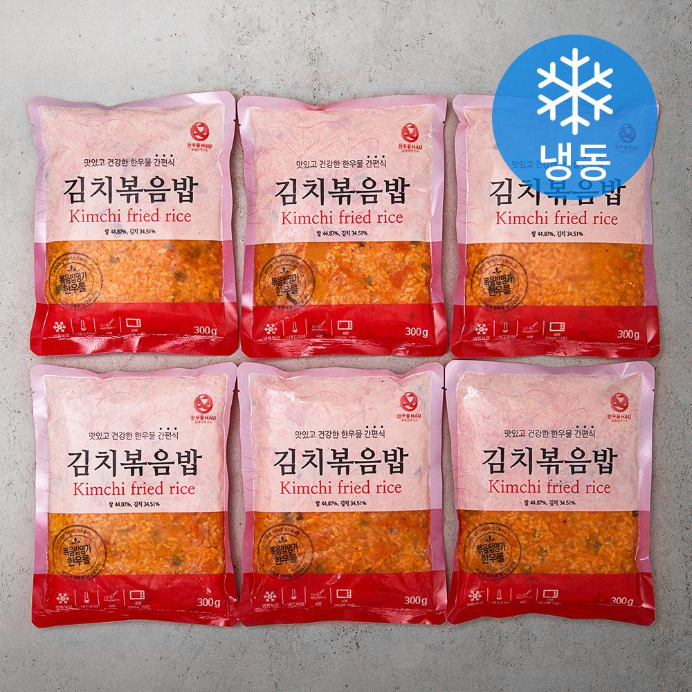 한우물 김치볶음밥 (냉동), 300g, 6개