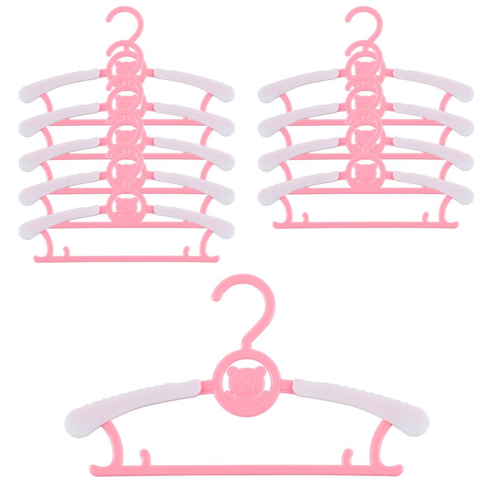 하늬통상 길이조절 가능한 아동 옷걸이, 핑크, 10개입