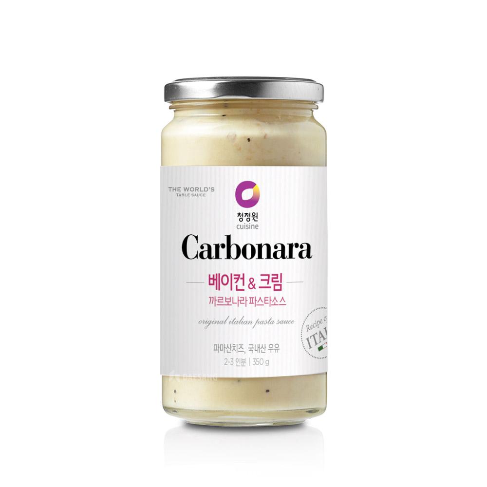 청정원 베이컨 앤 크림 까르보나라 파스타 소스, 350g, 1개