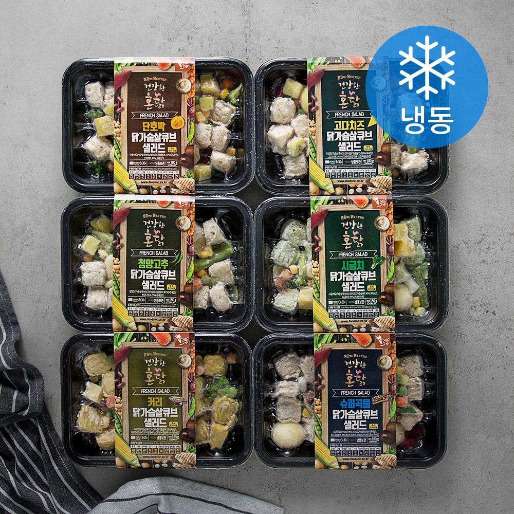 에스앤씨 건강한 혼닭 닭가슴살 샐러드 세트 (냉동), 180g, 6개