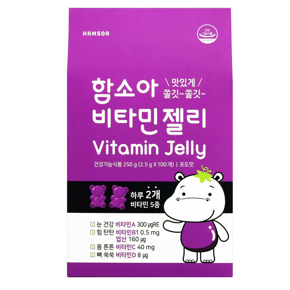 함소아 비타민 젤리 포도, 2.5g, 100개입