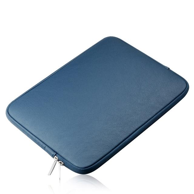 플럭스 가죽 방수 맥북 노트북 파우치, 블루(BLUE), 15in