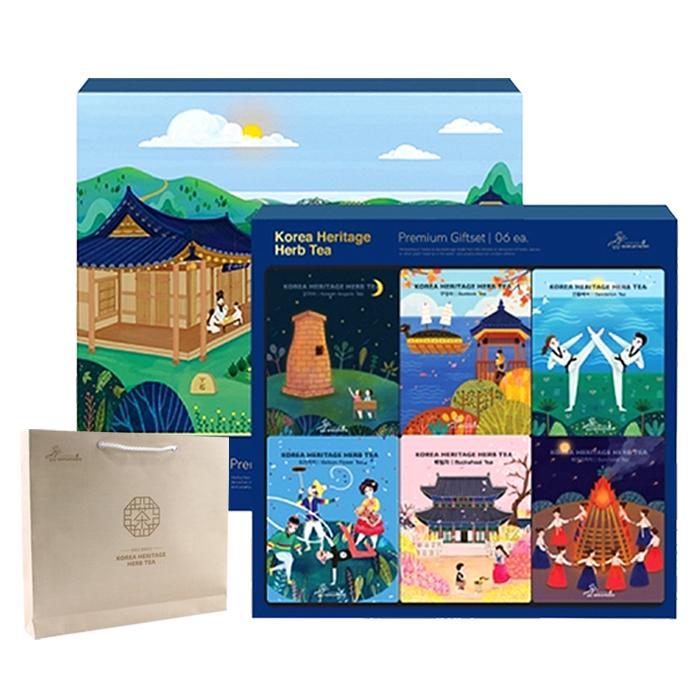 아름드레 한국의 전통차 6종 선물세트, 1세트