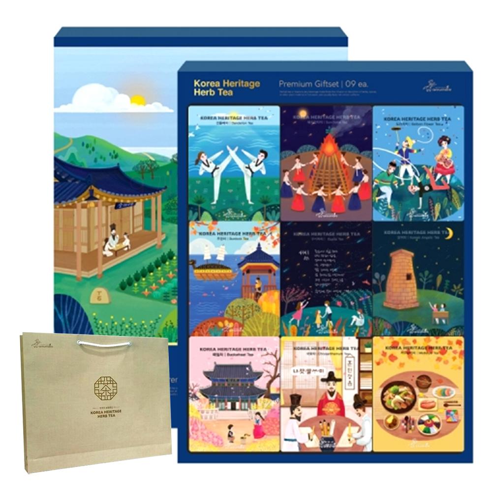 아름드레 한국의 전통차 9종 선물세트, 1세트