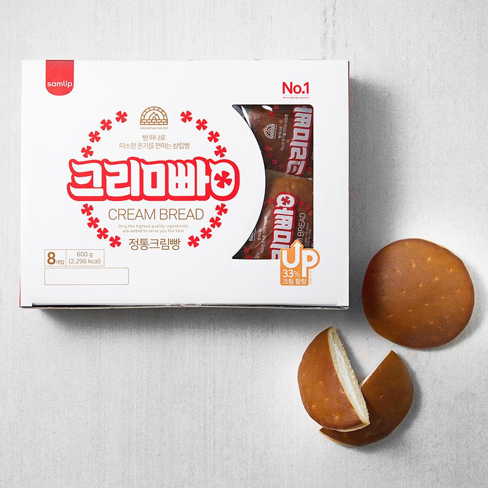 삼립 정통 크림빵 8개입, 600g, 1개