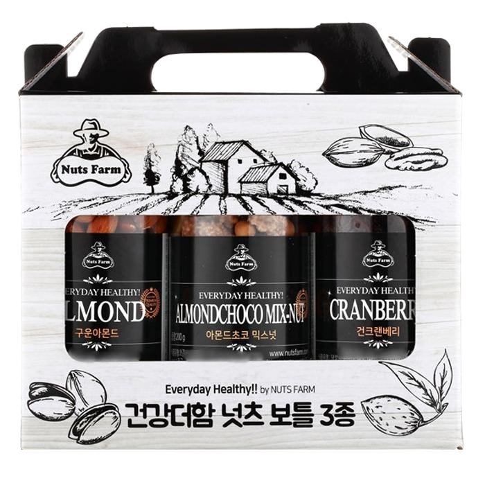 넛츠팜 건강더함 넛츠보틀 3종 2호 선물세트, 610g, 1세트