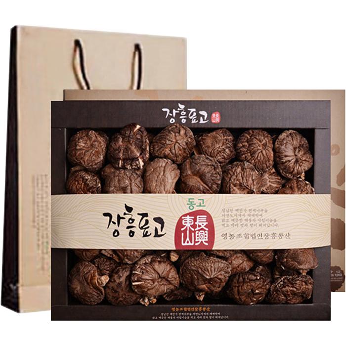 장흥표고버섯 선물세트 동고 200g  쇼핑백 1세트