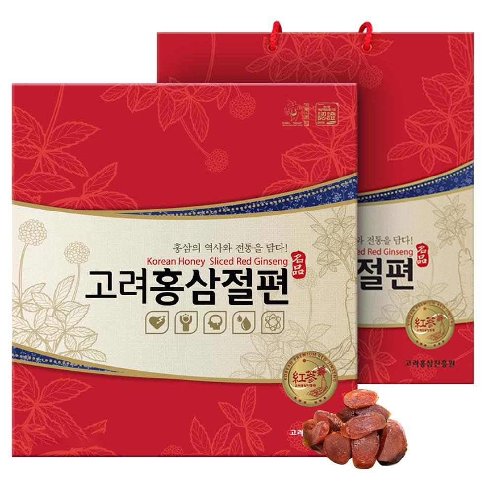 고려홍삼진흥원 홍삼절편 선물세트 15개입 + 쇼핑백, 300g, 1박스