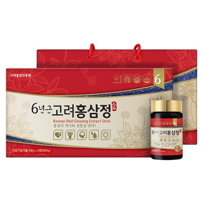 고려홍삼진흥원 6년근 홍삼정 + 쇼핑백, 250g, 4개입