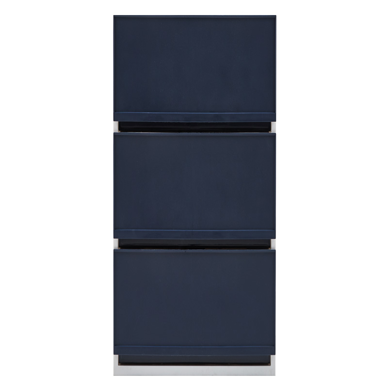샤바스 컬러스토리 서랍장 400 키높이형 3단, 네이비, 1개