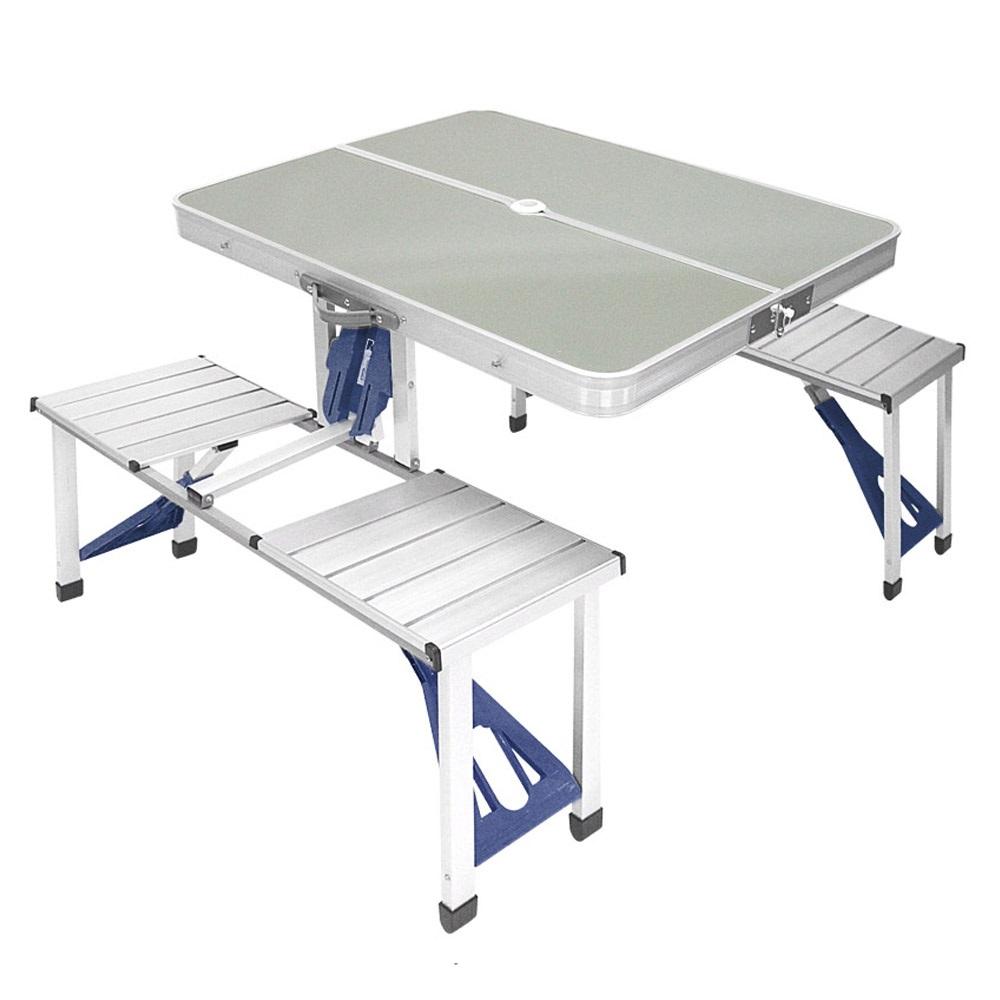 로티캠프 접이식 일체형 알루미늄 테이블, 실버