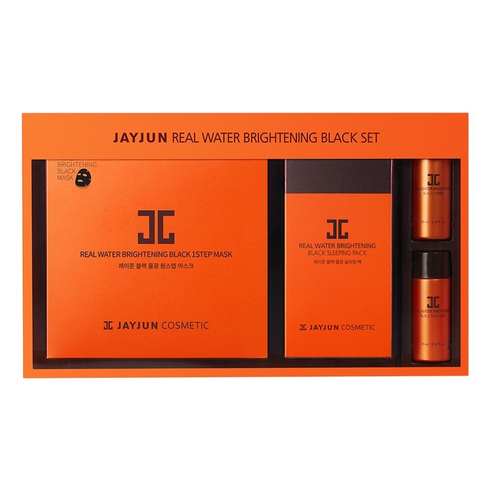 제이준 블랙 물광 마스크팩 + 슬리핑팩 + 토너 + 에멀전 세트, 4종, 1세트