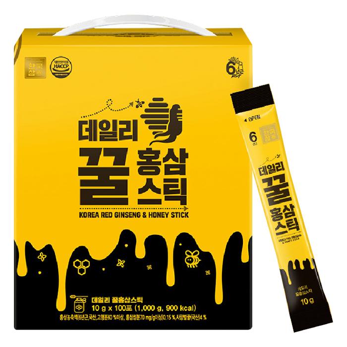 한국삼 데일리 꿀홍삼스틱, 10g, 100개입