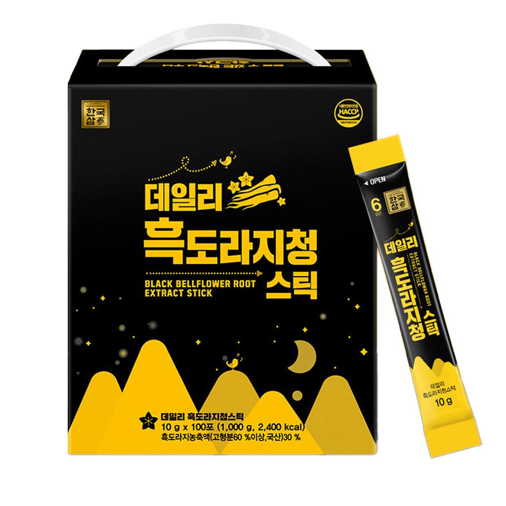 한국삼 데일리 흑도라지청 스틱, 10g, 100개