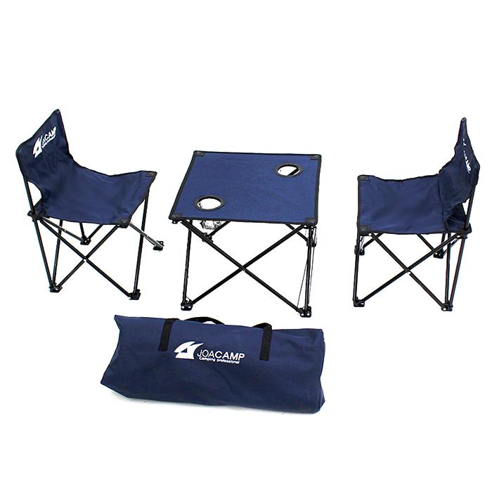 조아캠프 스마트 캠핑 의자 2p + 테이블 + 가방, 네이비