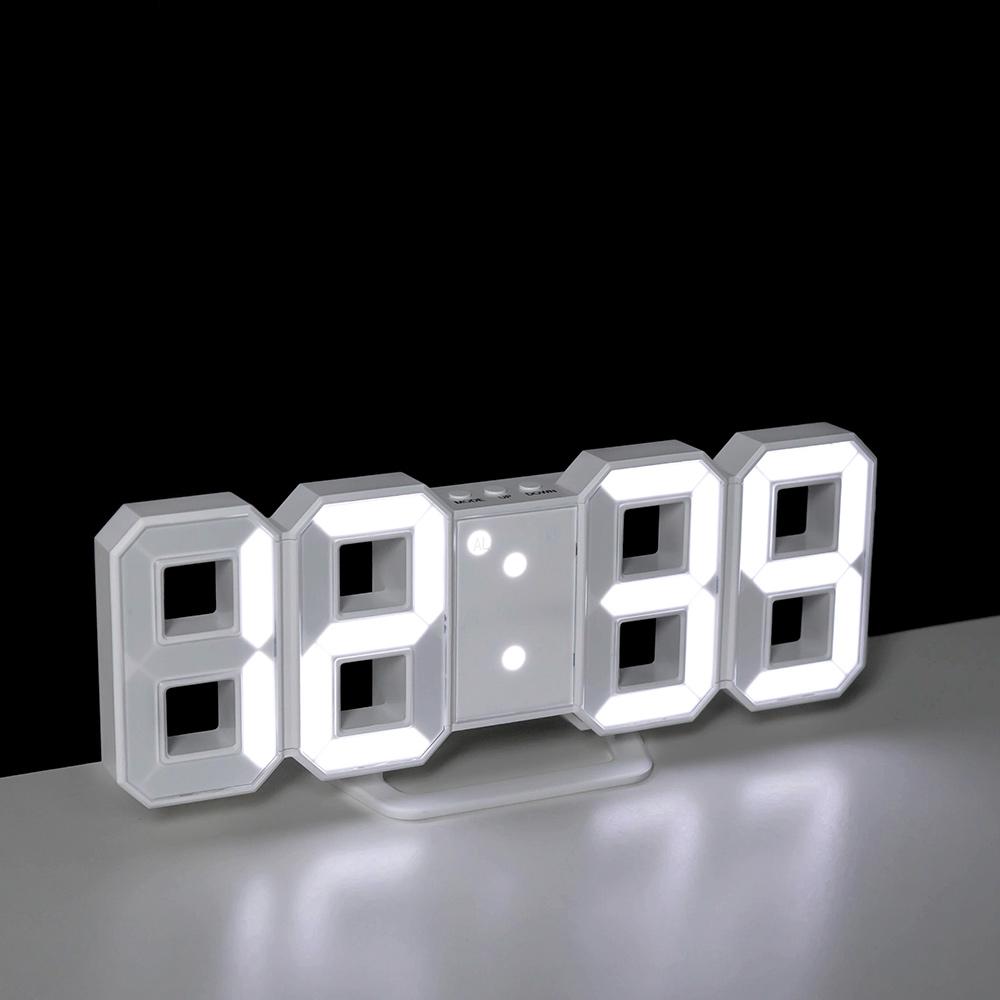 레토 디지털 3D LED 탁상 벽시계 LLC-P03D, 혼합 색상