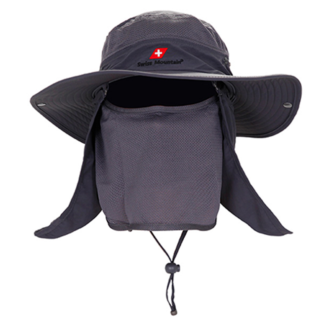 스위스마운틴 자외선차단 모자, 그레이
