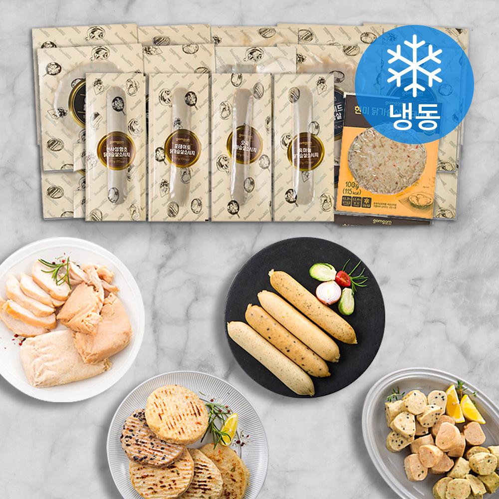 곰곰 닭가슴살 스페셜 15종 세트 (냉동), 1600g, 1세트