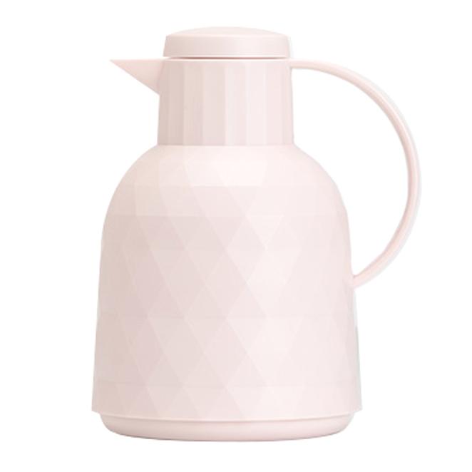 글라스락 텀블락 이너글라스 보온 보냉 주전자, 1L, 핑크