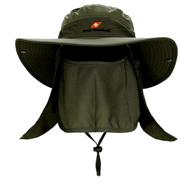 스위스마운틴 자외선차단 모자, 카키