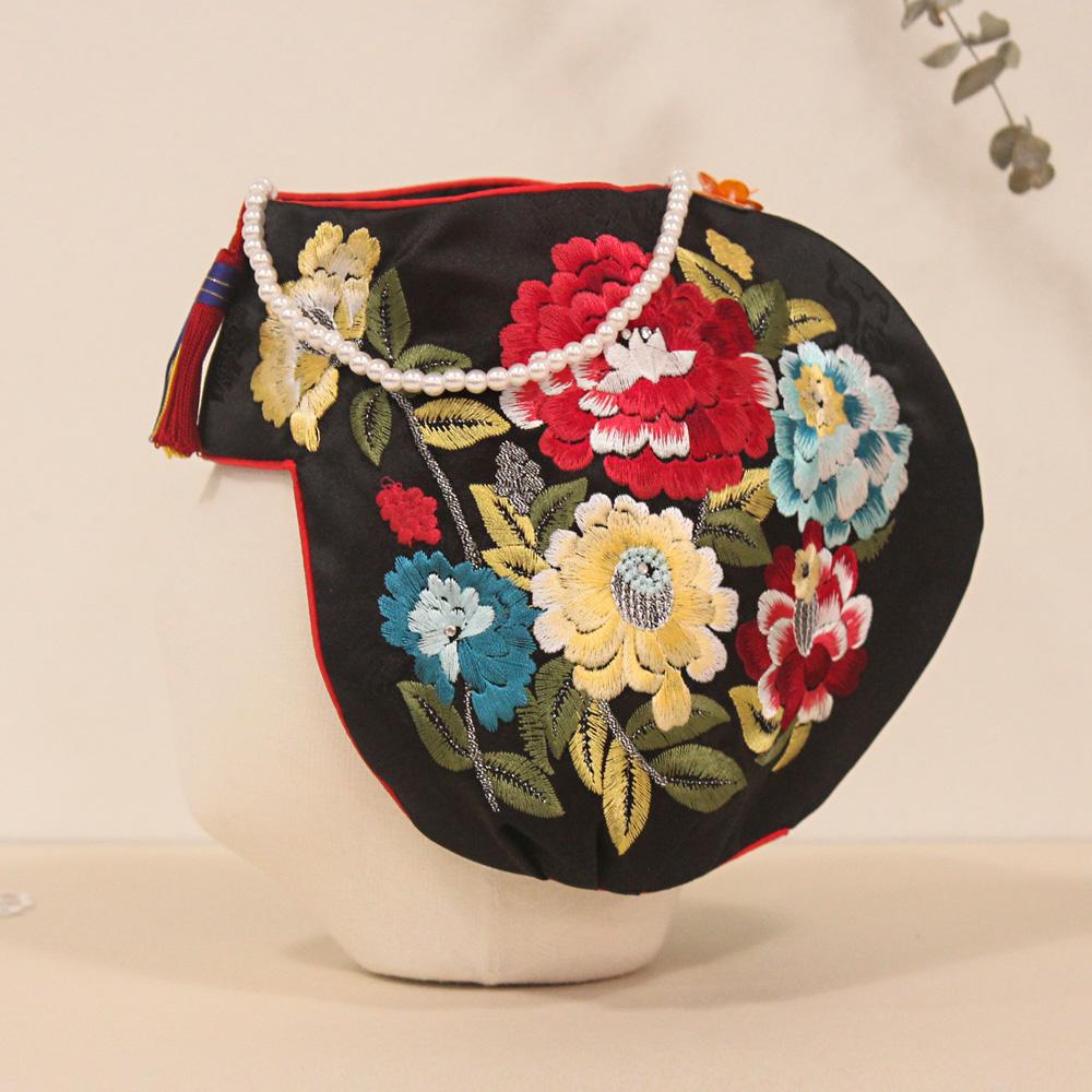 드레스하우스 여아용 모란꽃 조바위