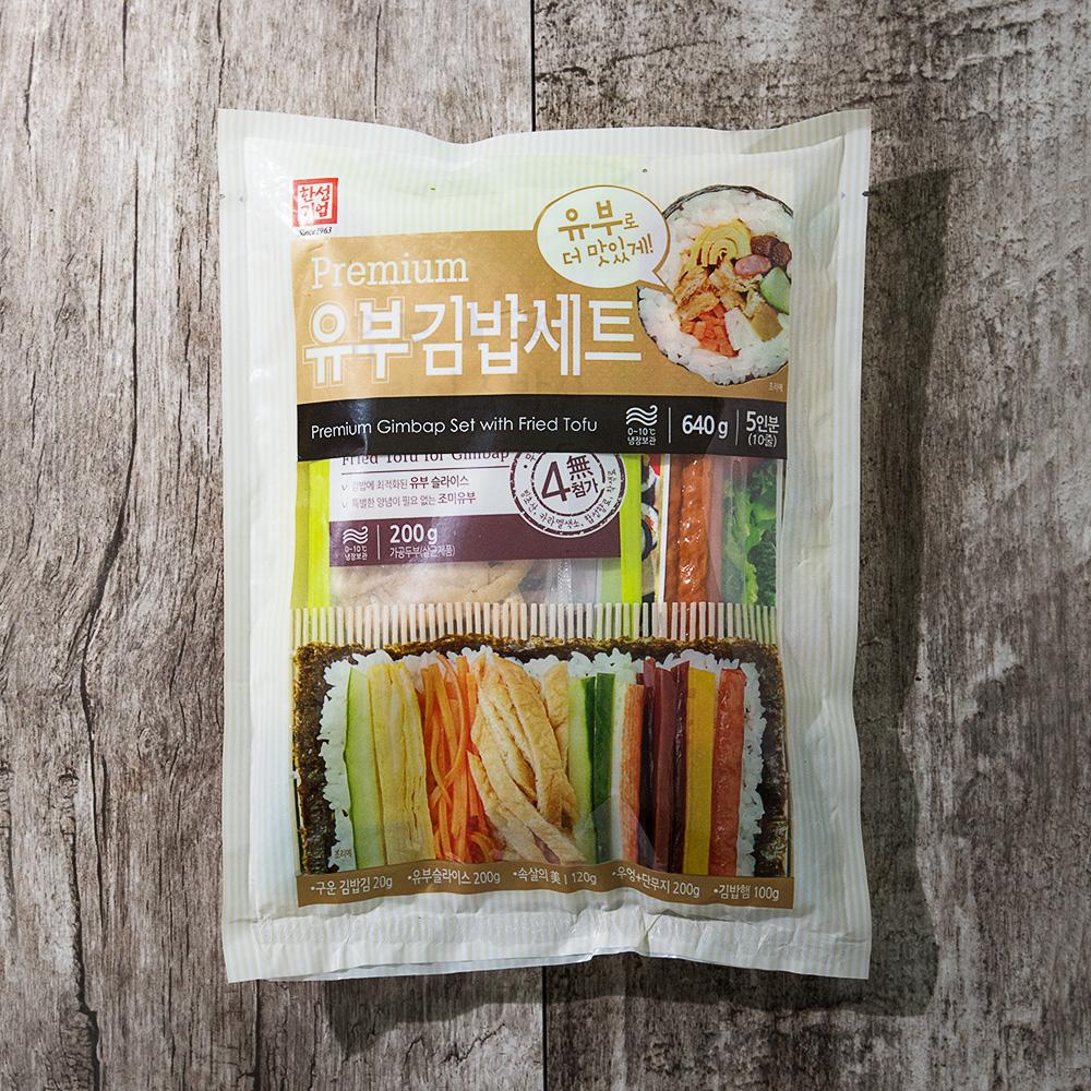 한성기업 프리미엄 유부김밥재료 6종 세트, 640g, 1개