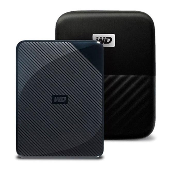 WD My Passport Game for PS4 외장하드 WDBZGE0040BBK-WESN + 파우치, 4TB, 혼합 색상