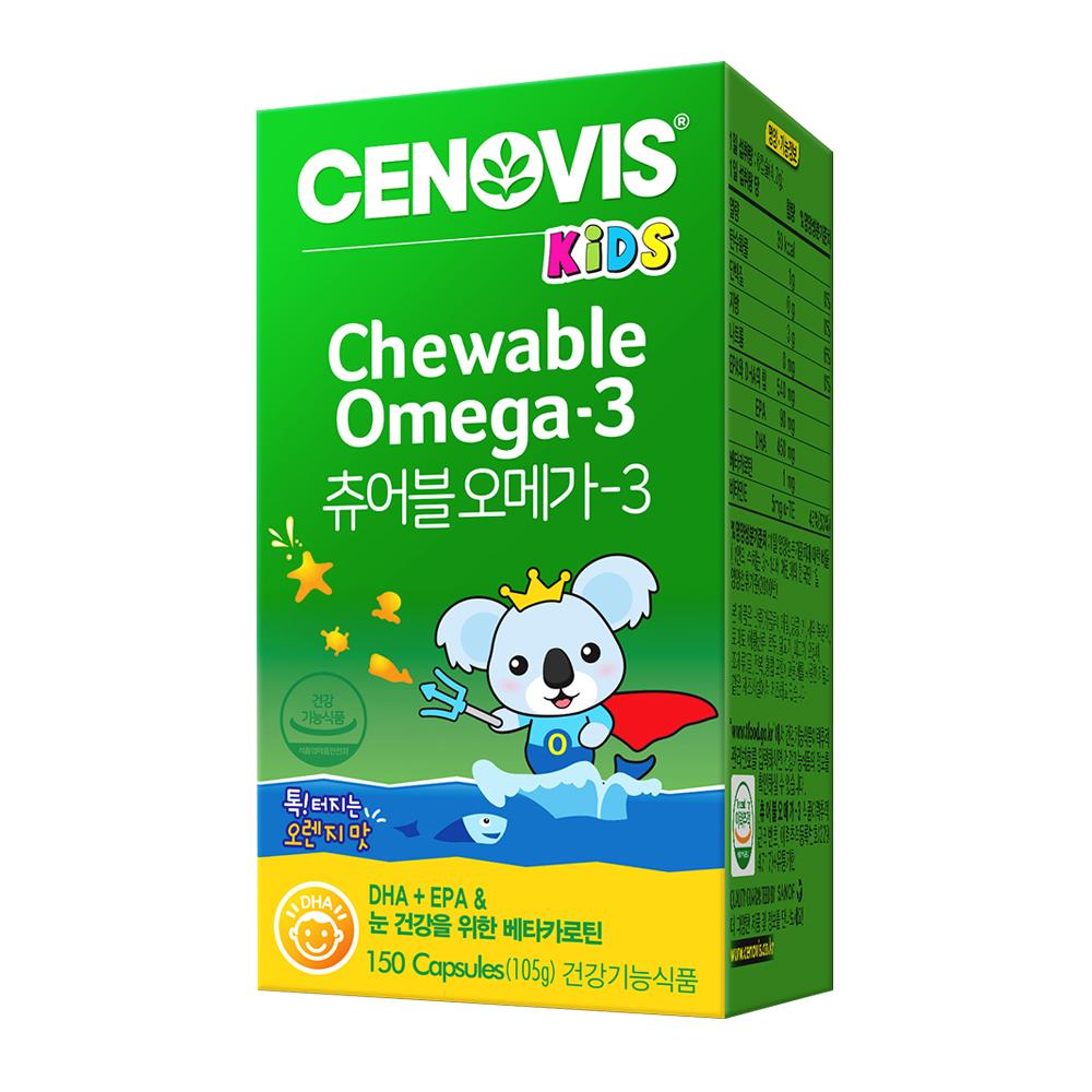 세노비스 키즈 츄어블오메가3, 150정, 1개