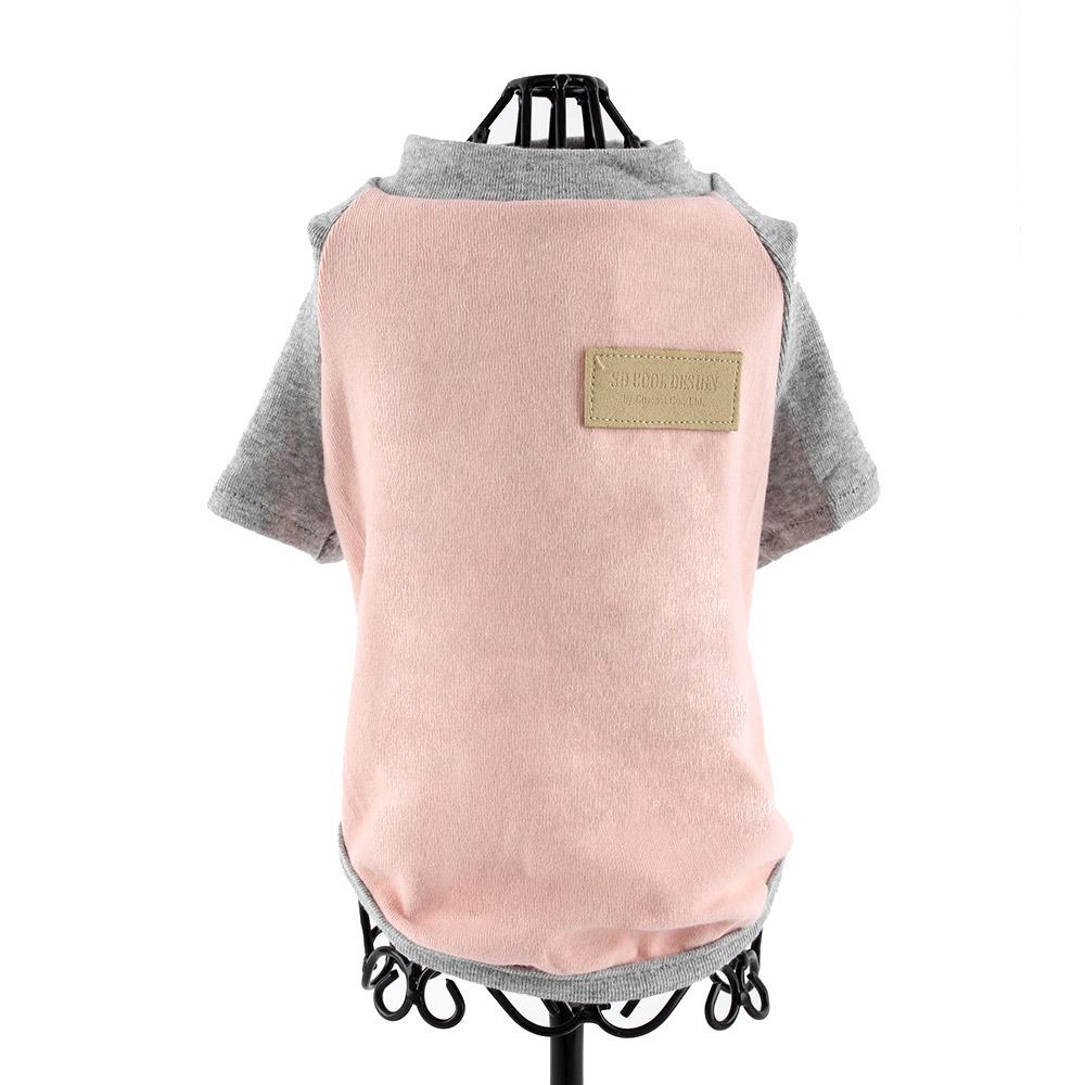 도그아이 애견 나그랑 티셔츠, 핑크(소매 그레이)