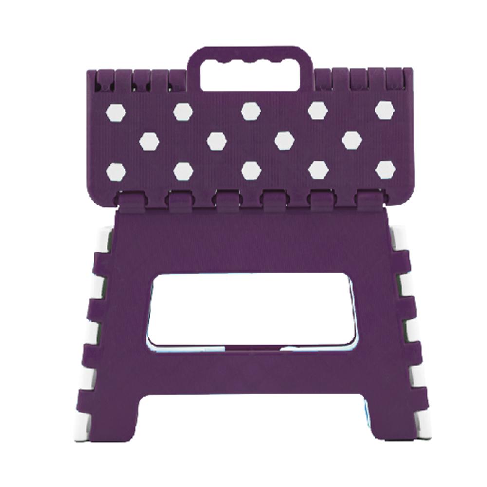 일한기획 휴대용 접이식 다용도 의자 22cm, 퍼플