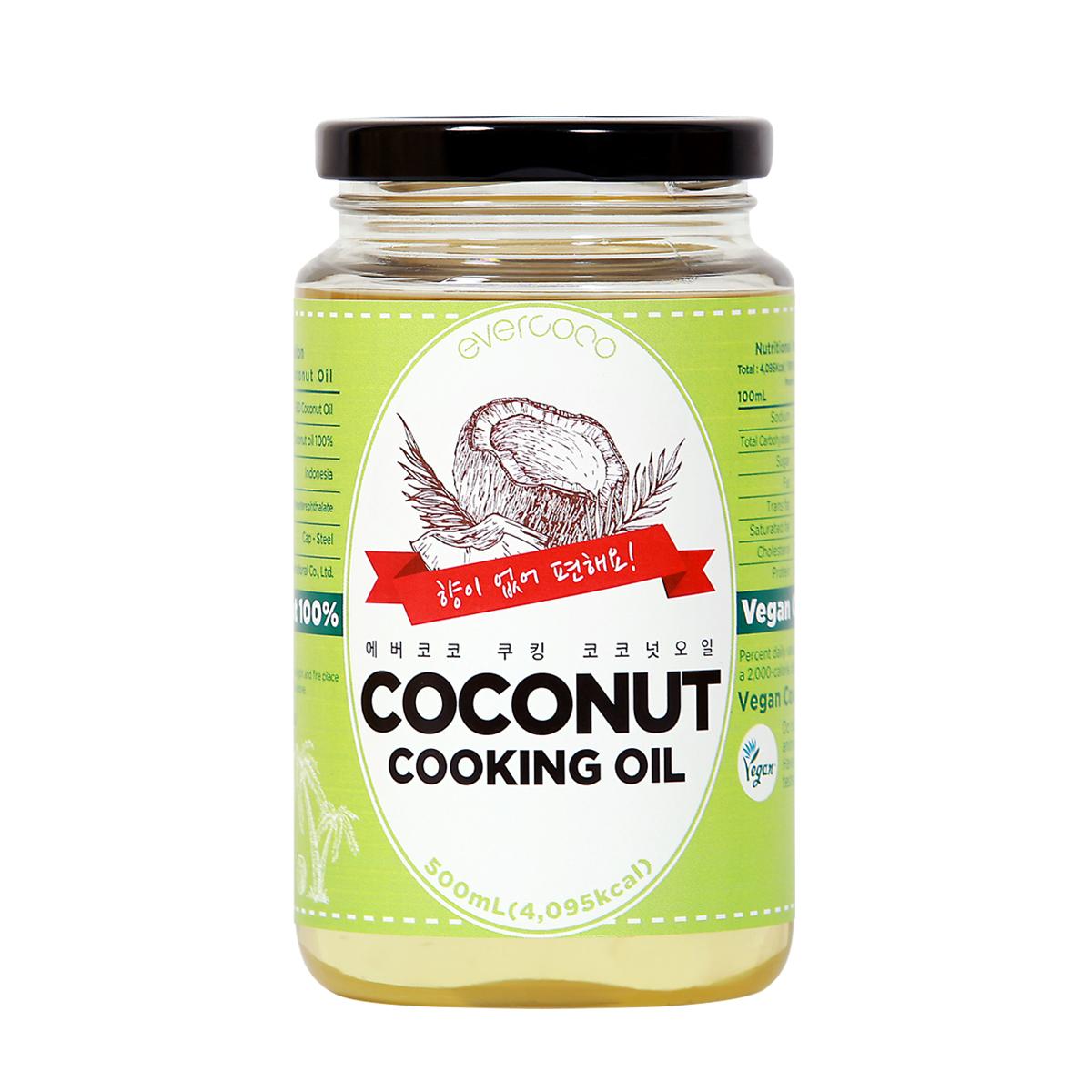 에버코코 쿠킹 코코넛 오일, 500ml, 1개