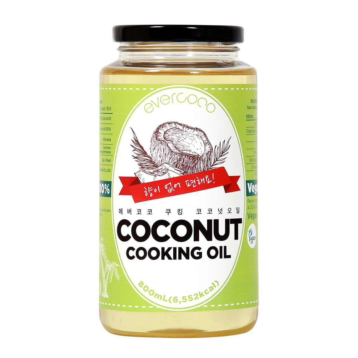 에버코코 쿠킹 코코넛 오일, 800ml, 1개
