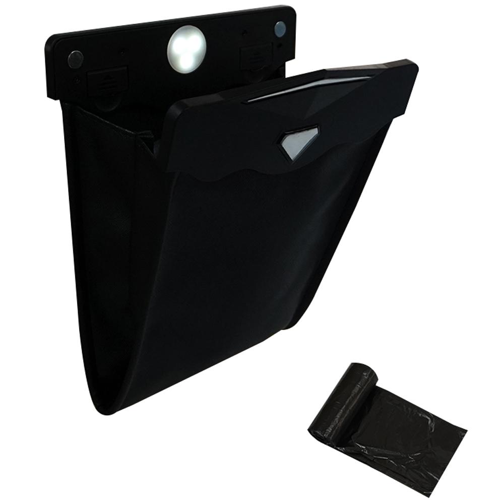 3S 차량용 포켓형휴지통 앞좌석용 + 쓰레기봉투롤, 1세트