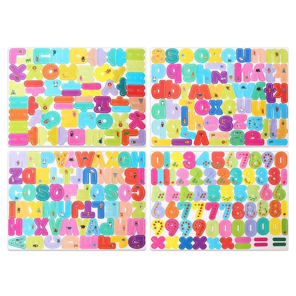 아리아띠 자석 글자 놀이 완구 4종 세트 MTM-038, 혼합 색상