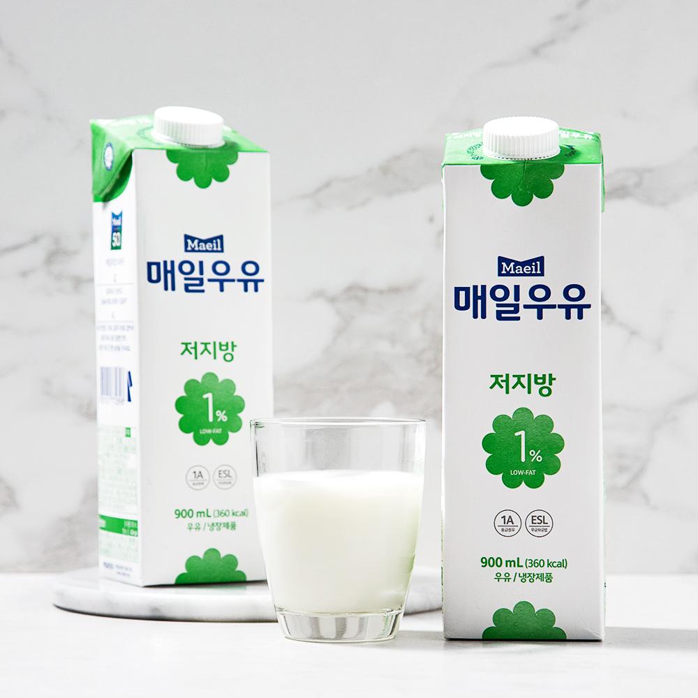 매일우유 저지방 1 우유 900ml 2개