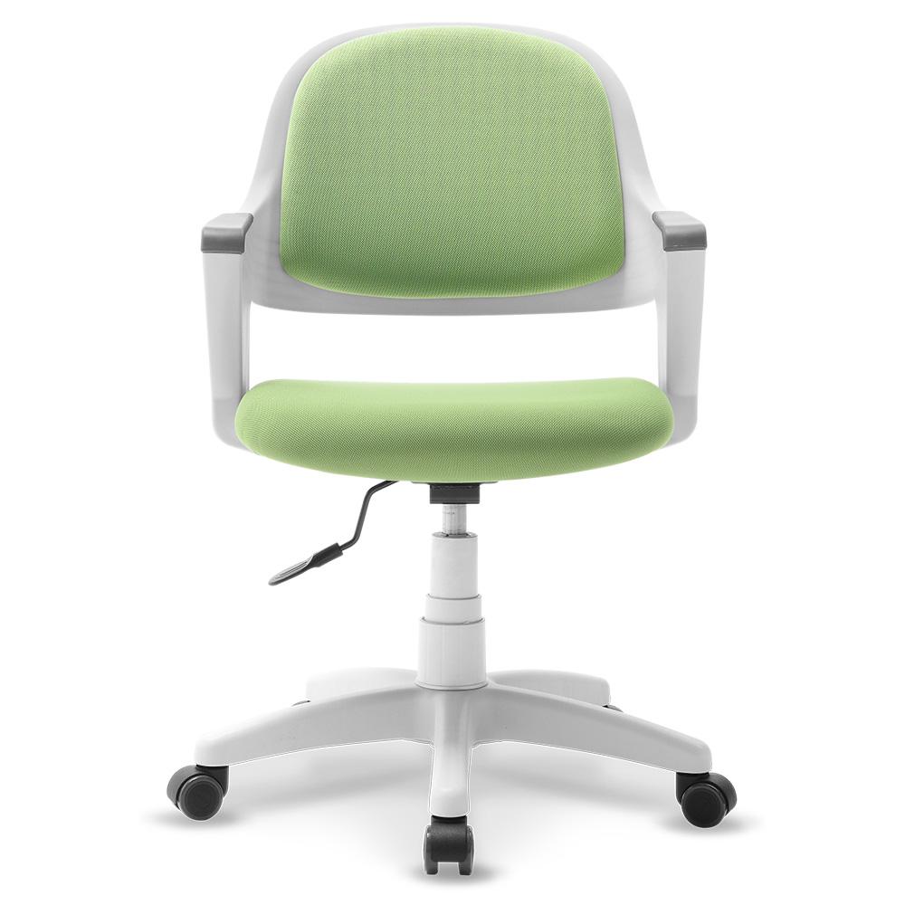 체어클럽 터치백 고급패브릭 화이트바디 의자, 그린